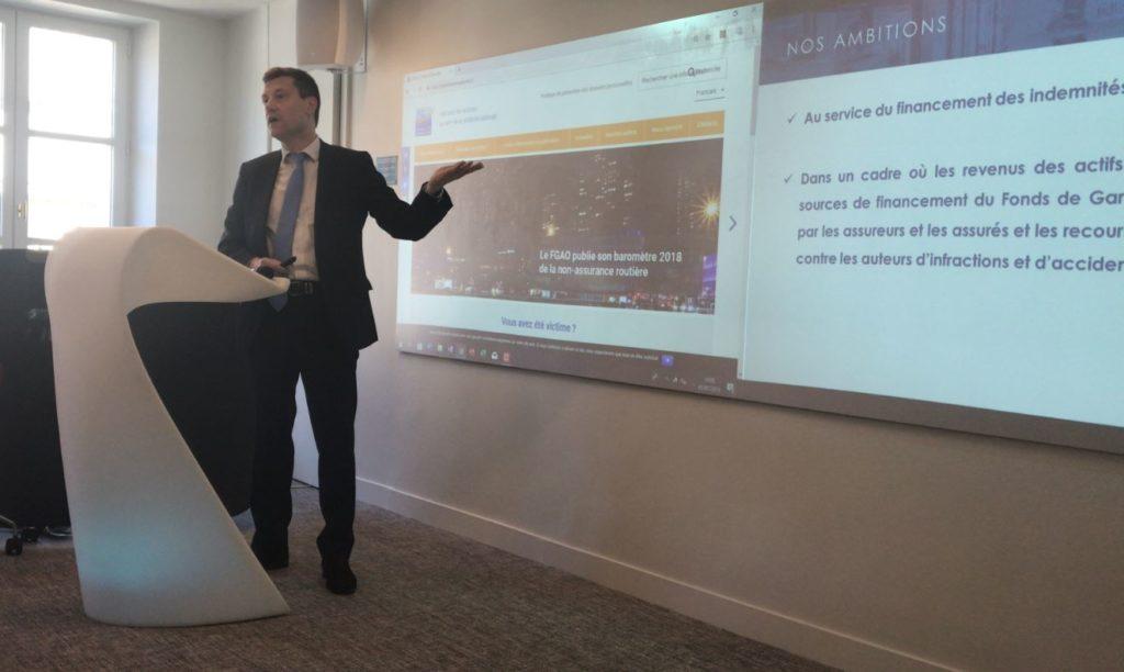 Christophe Aubin expose la nouvelle stratégie d'investissement responsable du Fonds de Garantie des Victimes le 5 juillet 2019